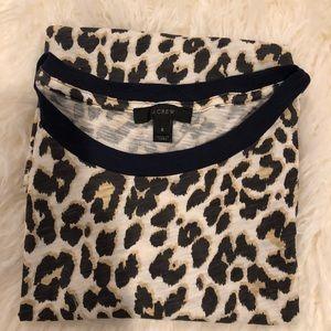 J crew leopard print tee